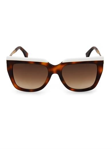 Square-framed tortoiseshell sunglasses