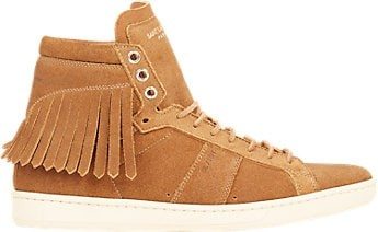 Fringe-Trim Court Classic Sneakers