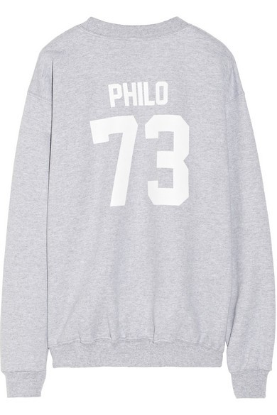 Team Philo printed cotton-fleece sweatshirt
