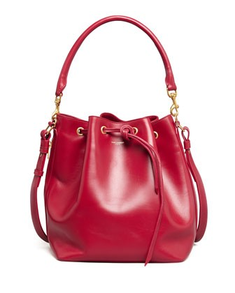 Bucket Shoulder Bag, Red - Saint Laurent