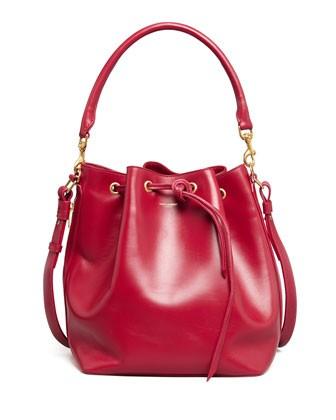 Bucket Shoulder Bag, Red - Saint Laurent