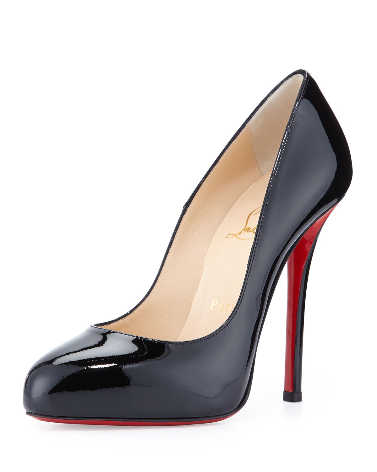 Argotik Patent Red Sole Pump, Black - Christian Louboutin - Black (35.0B/5.0B)