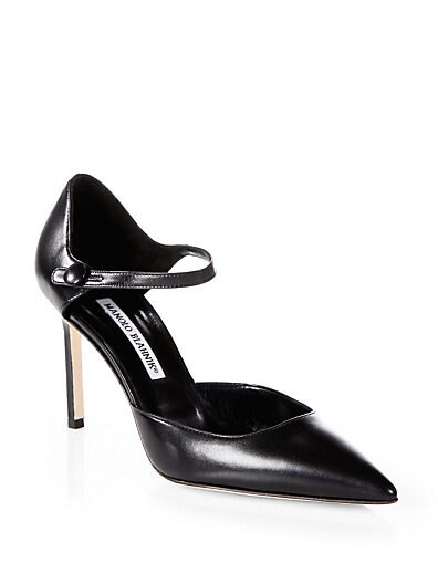 Norvany Leather Mary Jane Pumps