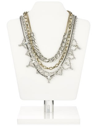 Mumbai Layered Chain Statement Necklace