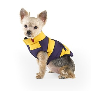 Ralph Lauren Striped Dog Down Vest with Big Patch