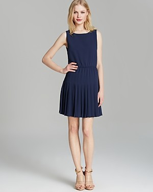 Alice + Olivia Dress - Shanna Fit and Flare Pleated