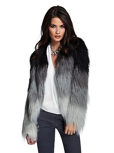 Barton Ombre Fur Jacket
