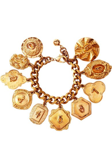 Victorian Plaza gold-plated charm bracelet