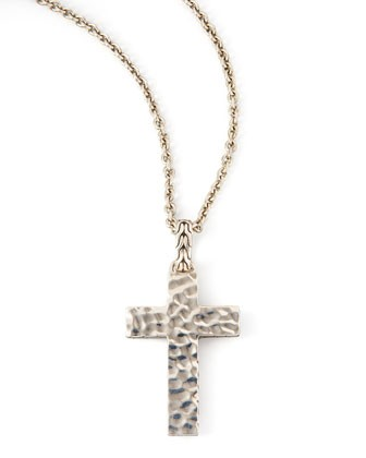 Blackened Palu Cross Necklace - John Hardy