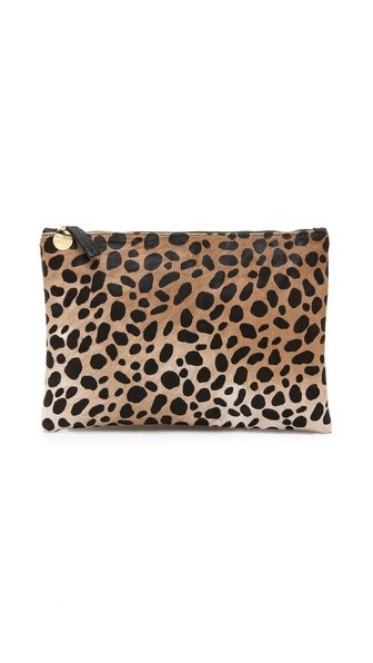 Flat Haircalf Clutch