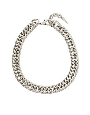 ASOS Vintage Style Chain Necklace with Spike Extender