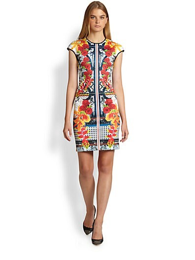 Cigar Granny Printed Neoprene Dress