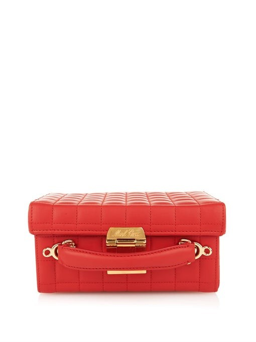 Grace small quilted leather box bag