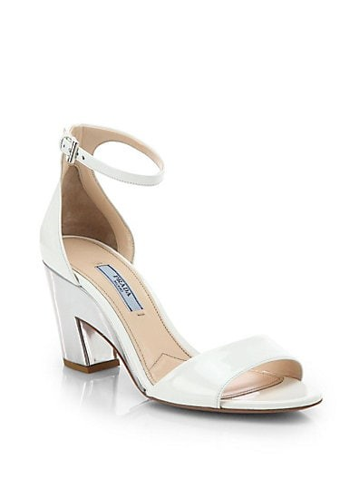 Patent & Metallic Leather Ankle-Strap Sandals