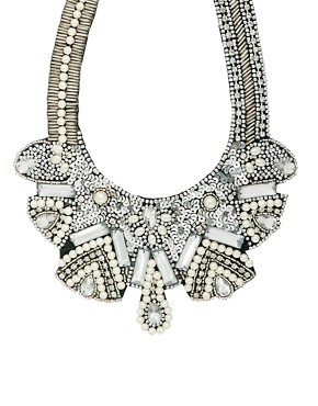 ASOS Pearl Bib Necklace