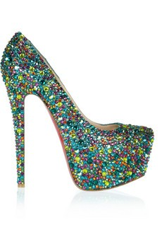 Daffodile 160 crystal-embellished leather pumps