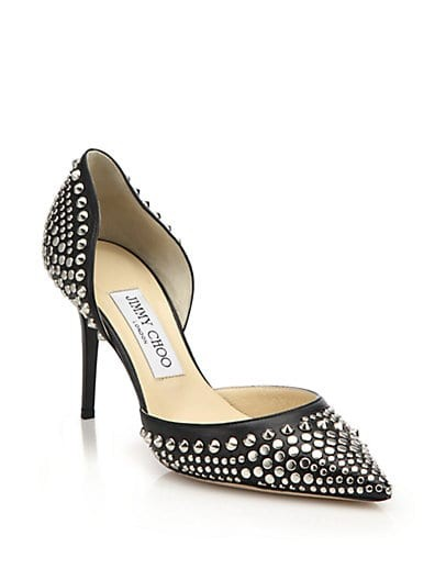 Addison Studded Leather Pumps