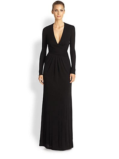 Deep V-Neck Jersey Gown