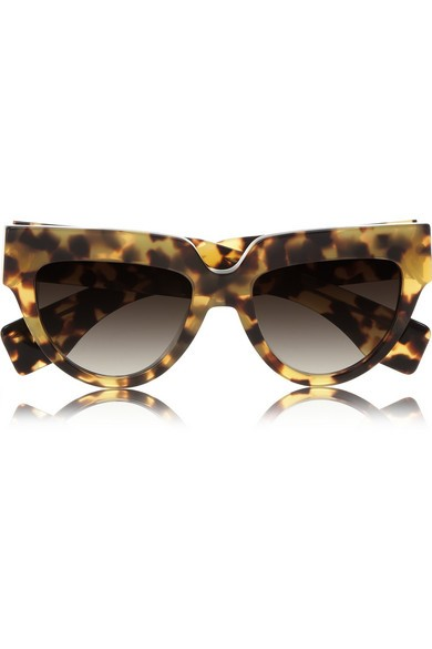 Cat eye tortoiseshell acetate sunglasses