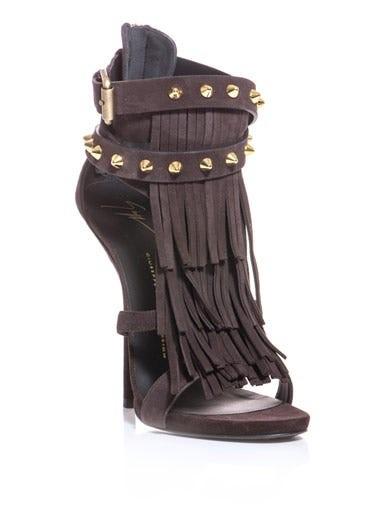 African suede sandals