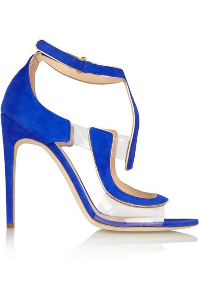 Rupert Sanderson Redondo suede and PVC sandals