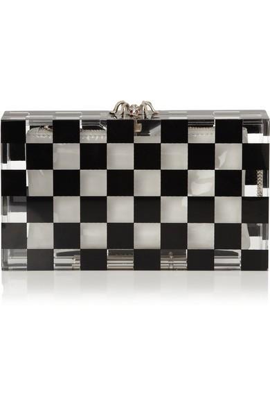 Pandora Squared Perspex box clutch