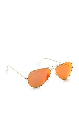 Mirrored Matte Classic Aviator Sunglasses