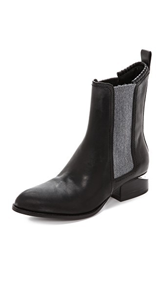 Anouck Chelsea Boots with Rhodium Hardware