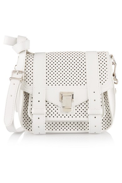PS1 perforated leather satchel