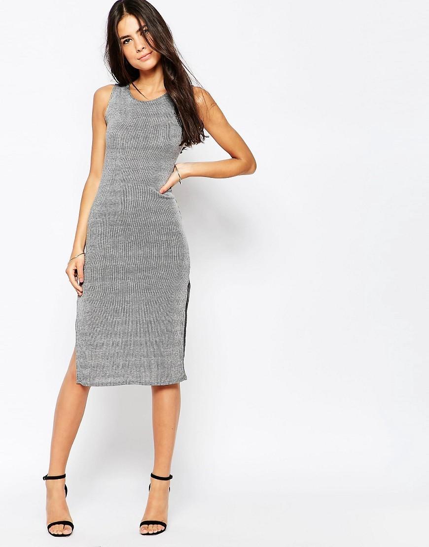 Club L Essentials Rib Tunic Dress with Side Splits