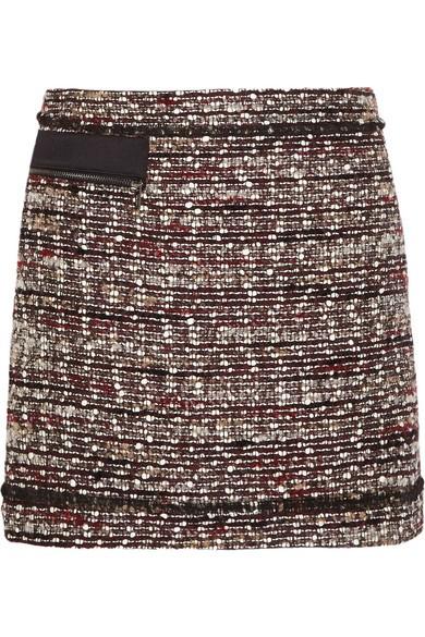 Suzie bouclé-tweed mini skirt