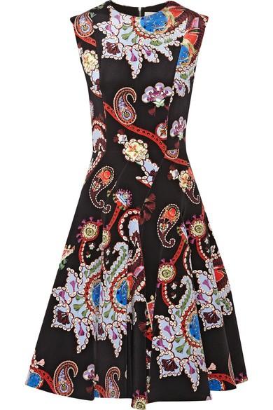 Masson printed silk-satin dress