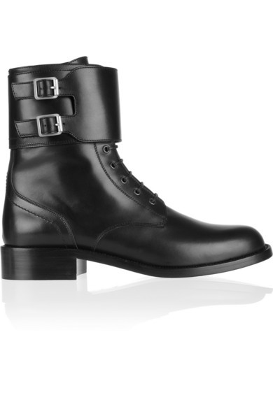 Patti leather army boots