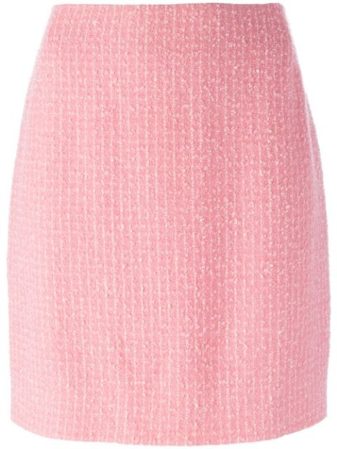 bouclé knit skirt