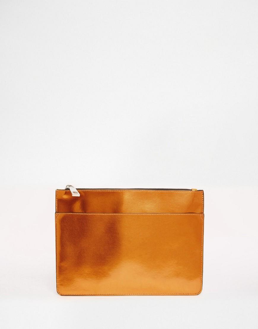 ASOS Harmonic Zip Top Clutch Bag