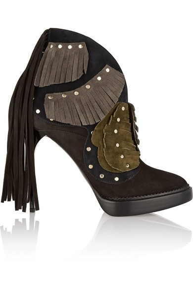 Lilybell fringed suede ankle boots