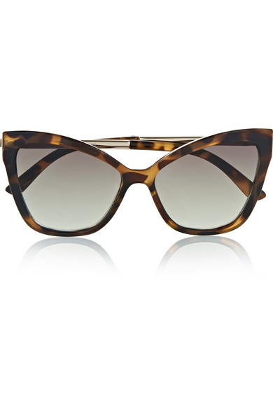 Naked Eyes cat-eye tortoiseshell acetate sunglasses
