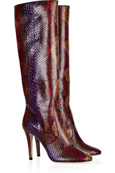 Tosca python knee boots