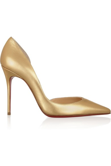 Iriza 100 metallic leather pumps