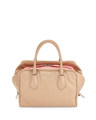 Medium Soft Calf Inside Bag, Blush/Rose (Cammeo Rosa)