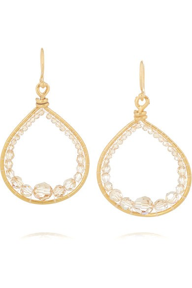 Gold-plated Swarovski crystal earrings