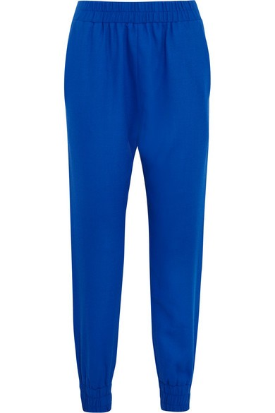 Rhea wool-crepe tapered pants