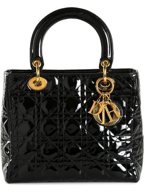 medium 'Lady Dior' patent tote