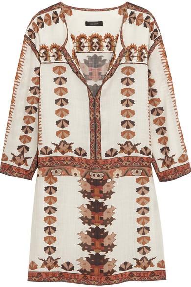Sandrine printed modal mini dress