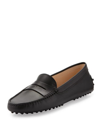 Leather Gommini Moccasin, Black