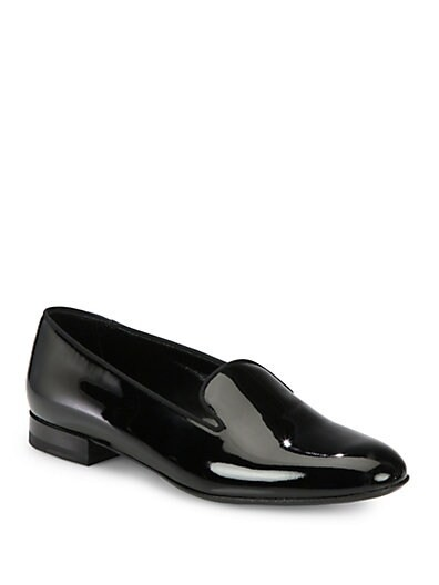 Saint Laurent Patent Leather Smoking Slippers