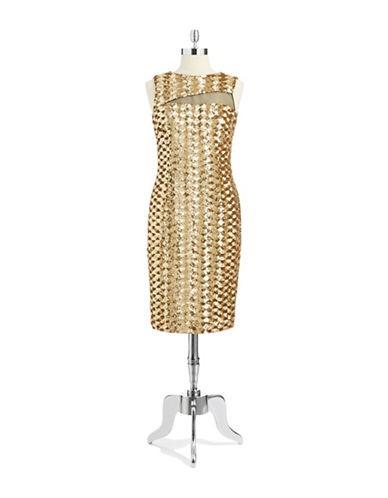 BADGLEY MISCHKASequin Sheath Dress