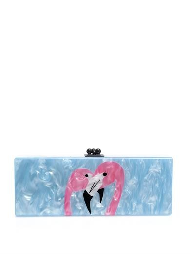 Flavia flamingo box clutch