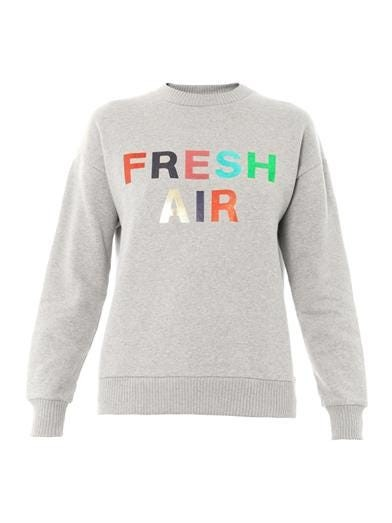Fresh air-print cotton sweatshirt