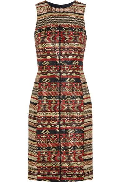 Akola metallic tweed dress